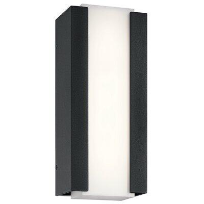 Brayden Studio Kemper LED Outdoor Sconce Size: 12'' H x 5'' W x 3 D