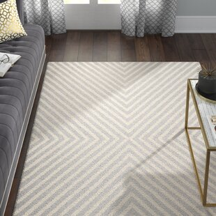 Ordingen Hand Tufted Wool Silver Ivory Area Rug