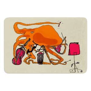 Playful Octopus by Marianna Tankelevich Bath Mat