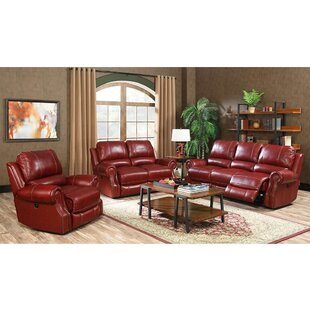 Denis Reclining 3 Piece Living Room Set Red Barrel Studio