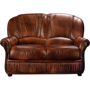 Piercefield Leather Loveseat by Red Barre..