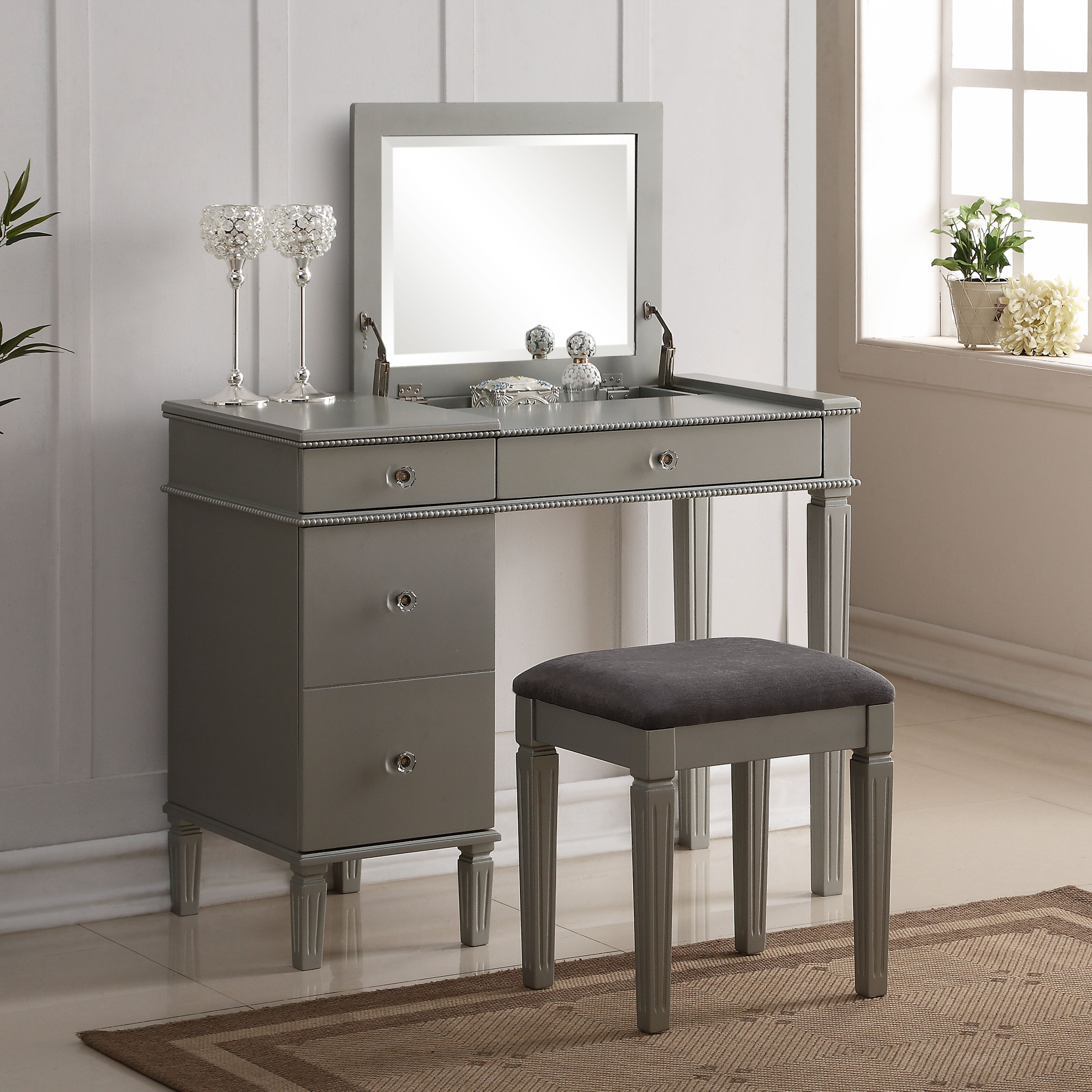 Darby Home Co Balamore 2 Piece Vanity Set With Mirror Reviews