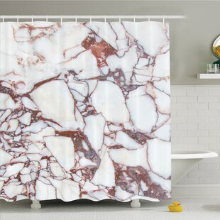 Dolomite Rocks with Characteristic Swirls and Cracked Lines Shower Curtain Set