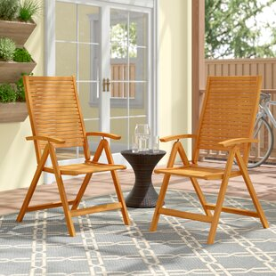 Cadsden Reclining Beach Chair (Set of 2) by Three Posts