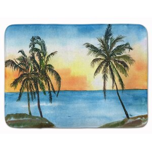 Palm Tree Memory Foam Bath Rug