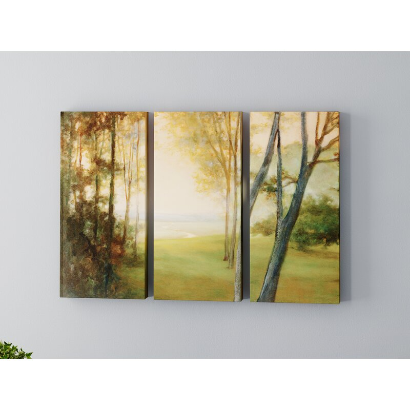 Charlton Home Between The Worlds 3 Piece Painting Print On Wrapped Canvas Set Wayfair