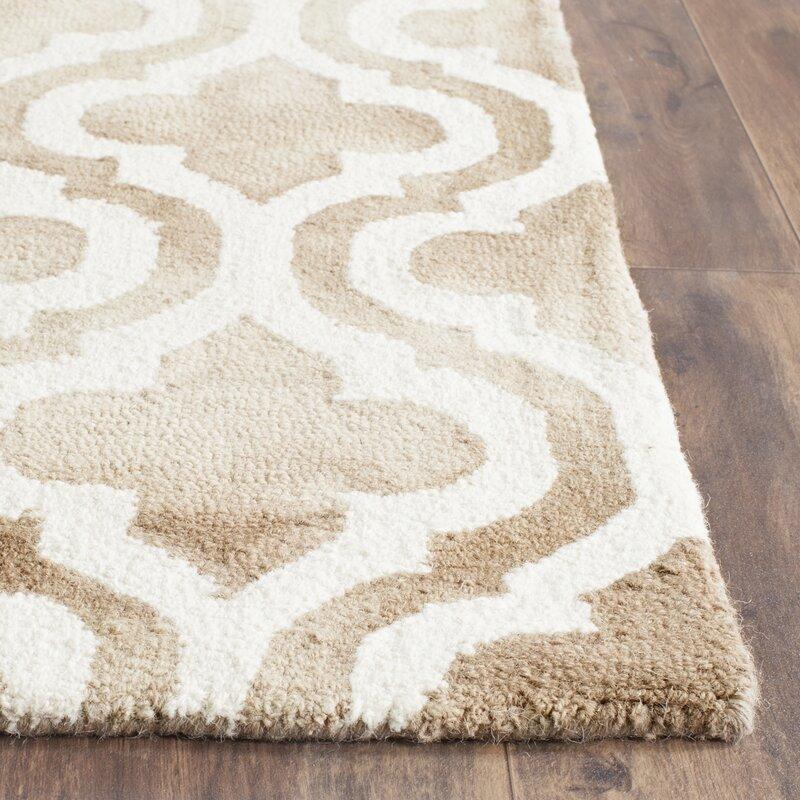 Willa Arlo Interiors Blakeston Hand Tufted Wool Beige Ivory Area Rug Reviews Wayfair