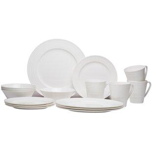 Vanilla Swirl 16 Piece Dinnerware Set  sc 1 st  Wayfair & Mikasa Swirl Dinnerware   Wayfair