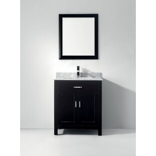 Celize 30 Single Bathroom Vanity Set with Mirror By Bauhaus Bath