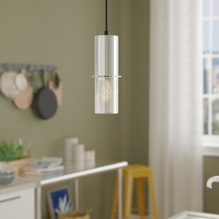 Wade Logan Chatsworth Contemporary 1-Light Cylinder Pendant