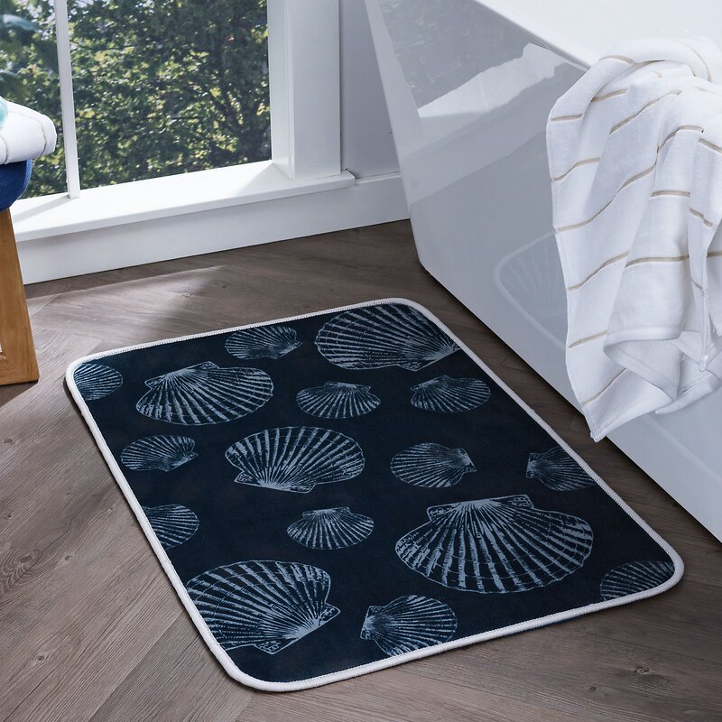 Seashells Foam Core Bath Rug