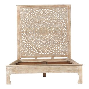 Alia Carved Queen Panel Bed by Mistana