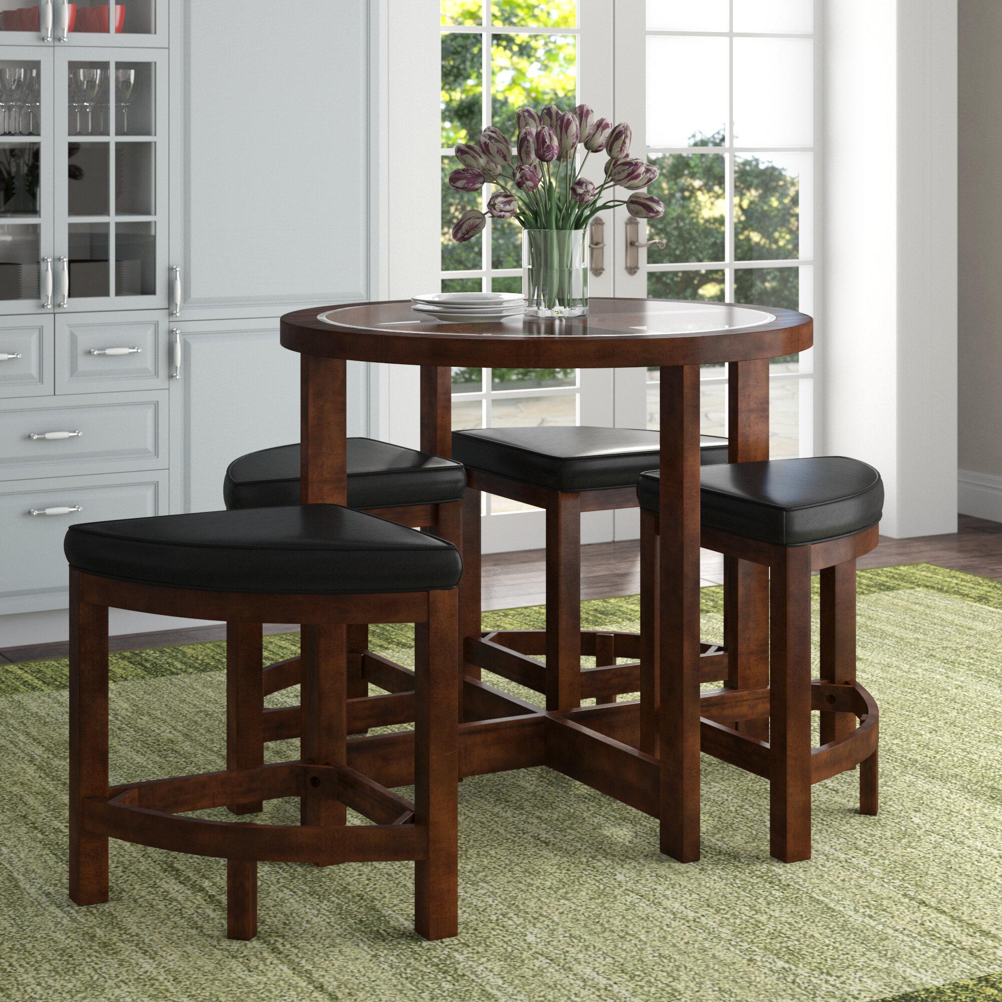 Red Barrel Studio Jinie 5 Piece Counter Height Pub Table Set U0026 Reviews |  Wayfair