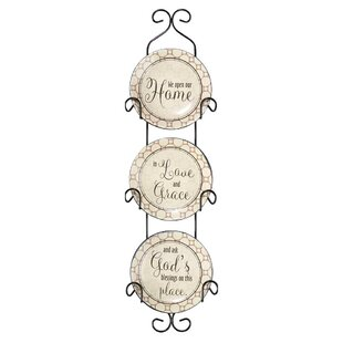 Callanan We Open Our Ceramic Decorative Plate  sc 1 st  Wayfair & Decorative Plate Racks | Wayfair