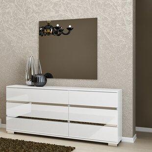 Salerno 6 Drawer Double Dresser with Mirror by Brayden Studio