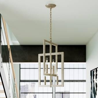 Orren Ellis Braziel 4 Light Candle Style Geometric Chandelier Wayfair
