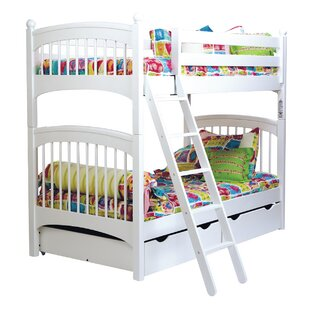 Harriet Bee Bonneau Twin over Twin Bunk Bed with Two Underbed Storage Drawers