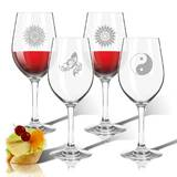 Solstice 4-Piece 12 oz. Plastic All Purpose Wine Glass Set by Carved Solutions