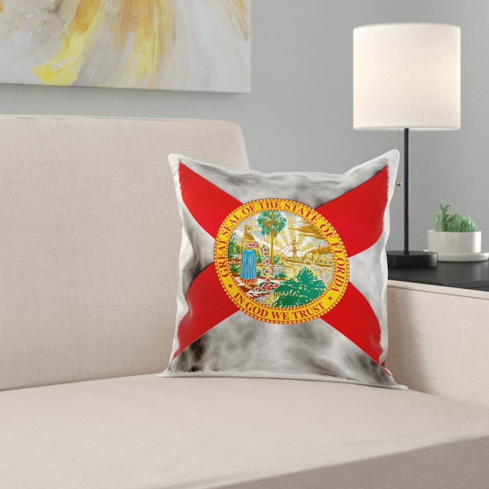 East Urban Home Florida State Flag Pillow Cover Wayfair