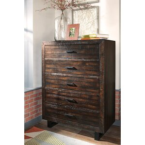 Randolph 5 Drawer Chest by World Menagerie