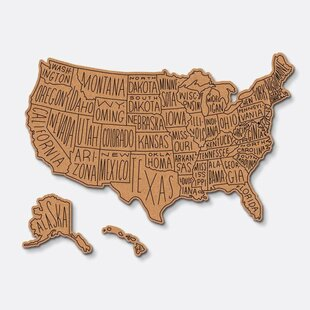 corkboard maps hand lettered us routed 22 x 35