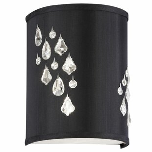 Stacie 2-Light Left Crystal Wall Sconce by House of Hampton