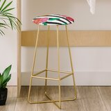 Natalie Baca Stripes and Blooms 31 Bar Stool by East Urban Home
