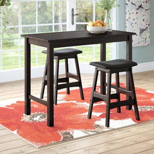 Nhien 3 Piece Counter Height Pub Table Set by Red Barrel Studio