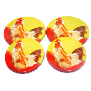 4 Piece Rooster Burner Cover Set