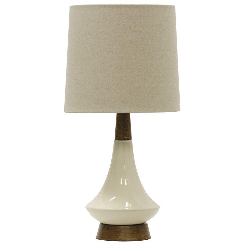 "george oliver villela retro 19"" table lamp & reviews | wayfair"