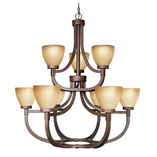 Woodbridge Lighting Wayman 9-Light Shaded Chandelier