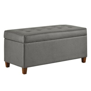 Carissa Faux Leather Storage Bench by Winston Porter