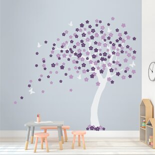 Save  sc 1 st  Wayfair & Purple Trees And Flower Wall Decals Youu0027ll Love | Wayfair