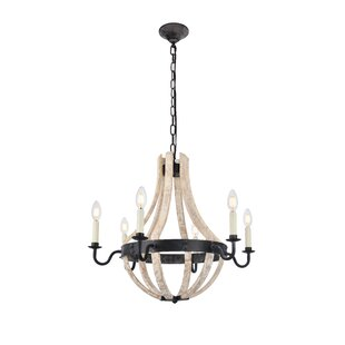 Gracie Oaks Karteek 6-Light Chain Empire Chandelier