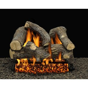 Somerset Blaze Vented Natural Gas/Propane Fireplace Log Set By American Gas Log