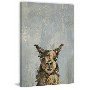 'Naughty Llama' Canvas Art