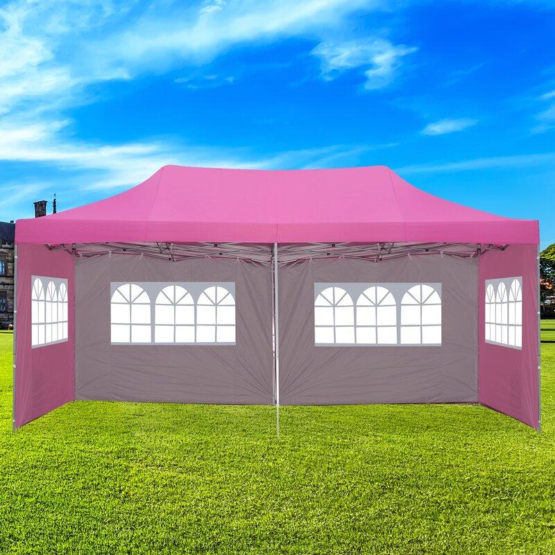 Ainfox 10 Ft W X 20 Ft D Steel Party Tent Canopy Reviews Wayfair