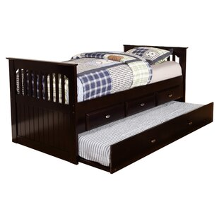 Twin Rake Slat Bed with Trundle