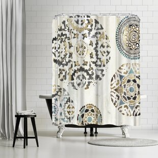 PI Creative Art Rounded I Single Shower Curtain