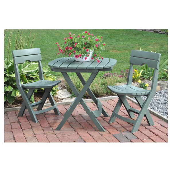 Andover Mills Quebec  Piece Bistro Set  Reviews Wayfair - Bistro table set