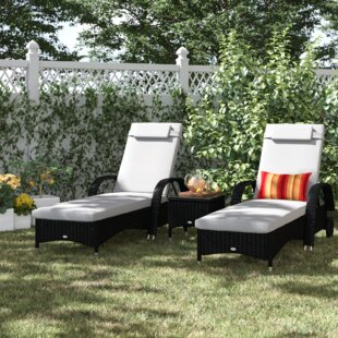 Berkhamsted Reclining Sun Lounger Set With Cushions And Table Image