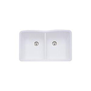 White Undermount Kitchen Sinks granite kitchen sinks you'll love   wayfair