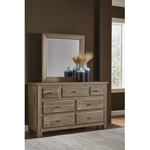 Fairfield 7 Drawer Dresser With Mirror by Loon Peak 2019 Coupon
