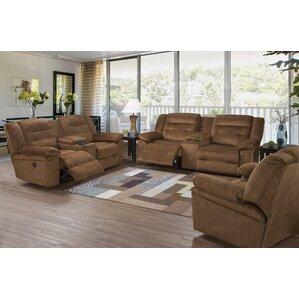 Serta Upholstery Hodgdon Power Double Recliner Reclining Sofa