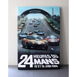 Le Mans 24 Hour Program Cover Print on Canvas By NeroCavallo