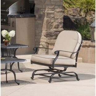 Darby Home Co Dunnes Motion Patio Chair with Sunbrella Cushions (Set of 2)