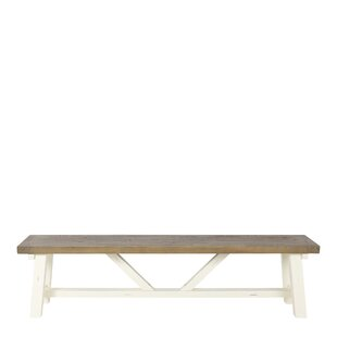 Sussex Shores Wood Bench By Breakwater Bay