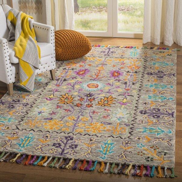 Bungalow Rose Broadmoor Hand Tufted Wool Gray Area Rug Reviews Wayfair