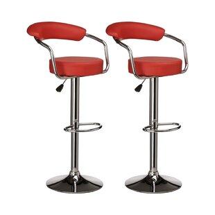 Alvardo Adjustable Bar Stool (Set Of 2) By George Oliver