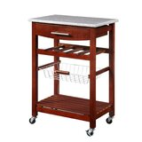 Audrina Kitchen Island with Granite Top by August Grove®